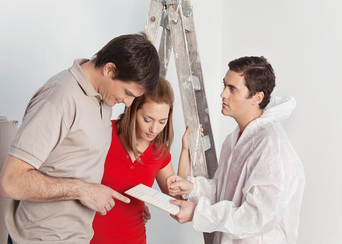 working with a painting contractor