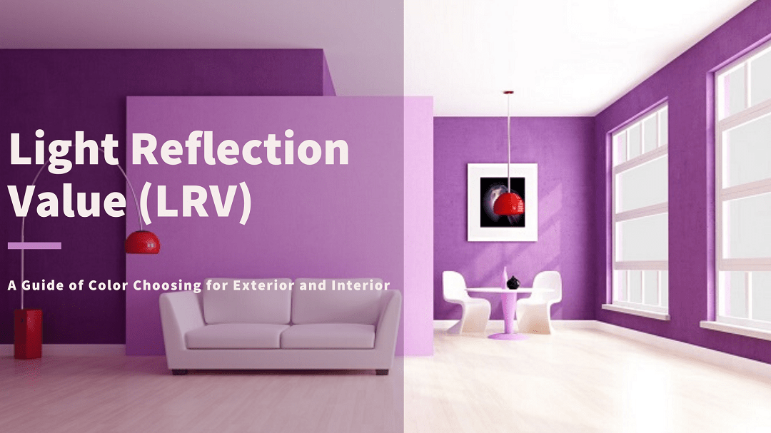 Light reflection value for paint color