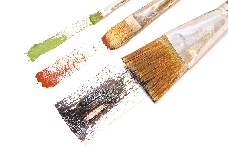home paint brush and size